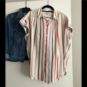 Madewell Rainbow Stripe Central Shirt
